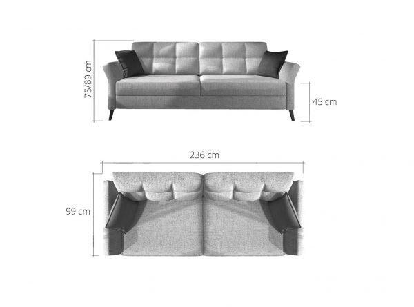 fuego kanapé méretek