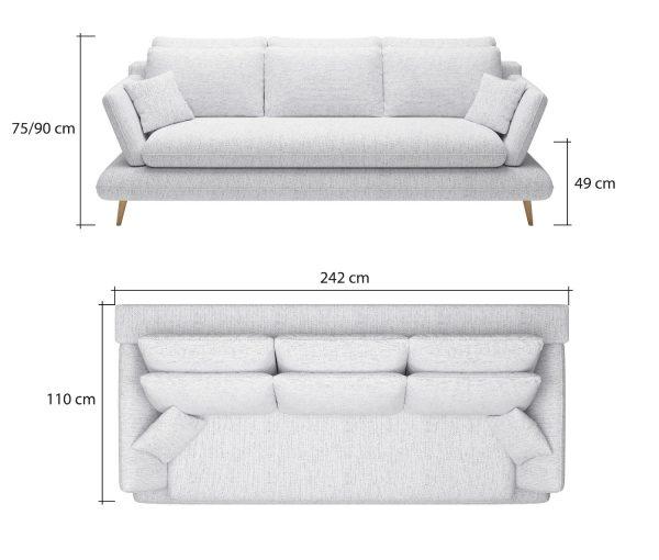 Monte kanapé méretek