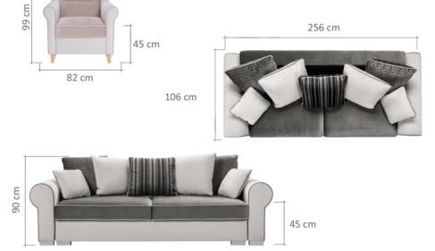 Deluxe kanapé méretek